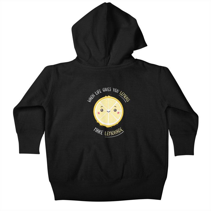 When Life Gives Lemons Make Lemonade Kids Baby Zip-Up Hoody by zoljo's Artist Shop