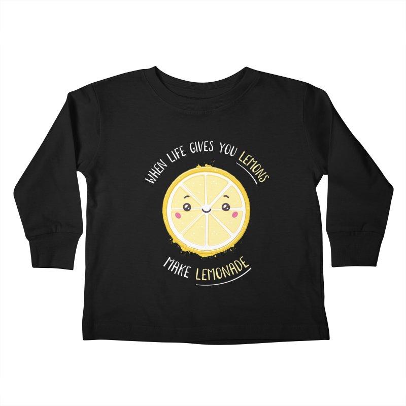 When Life Gives Lemons Make Lemonade Kids Toddler Longsleeve T-Shirt by zoljo's Artist Shop