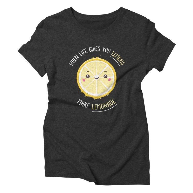 When Life Gives Lemons Make Lemonade Women's Triblend T-Shirt by zoljo's Artist Shop