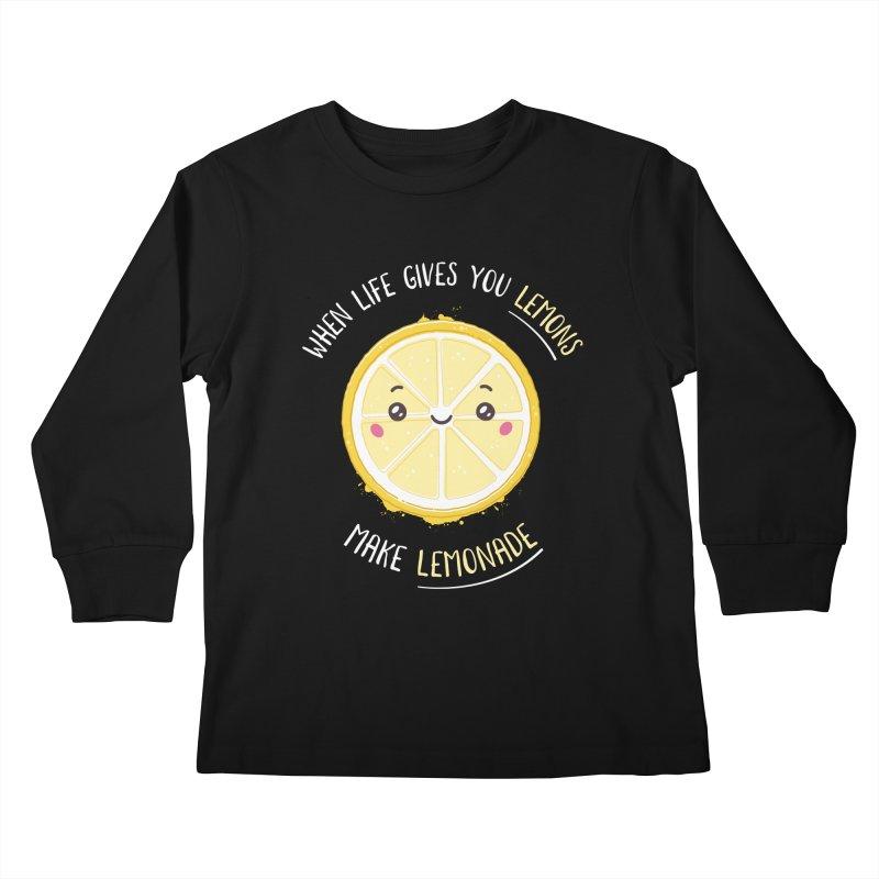When Life Gives Lemons Make Lemonade Kids Longsleeve T-Shirt by zoljo's Artist Shop