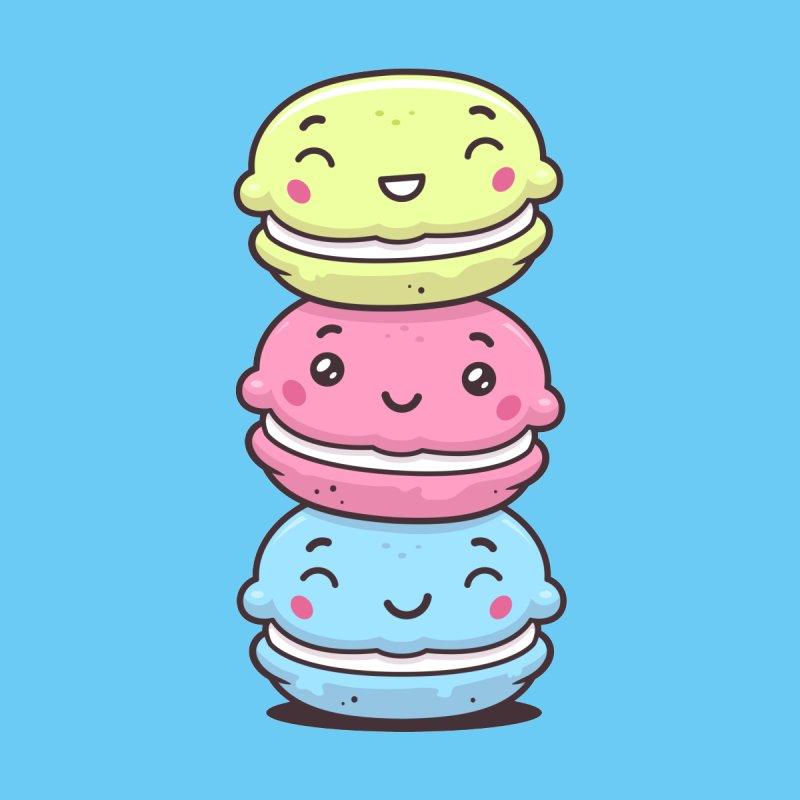 Funny Macarons Kids T-Shirt by zoljo's Artist Shop