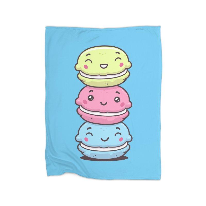 Funny Macarons Home Fleece Blanket Blanket by zoljo's Artist Shop