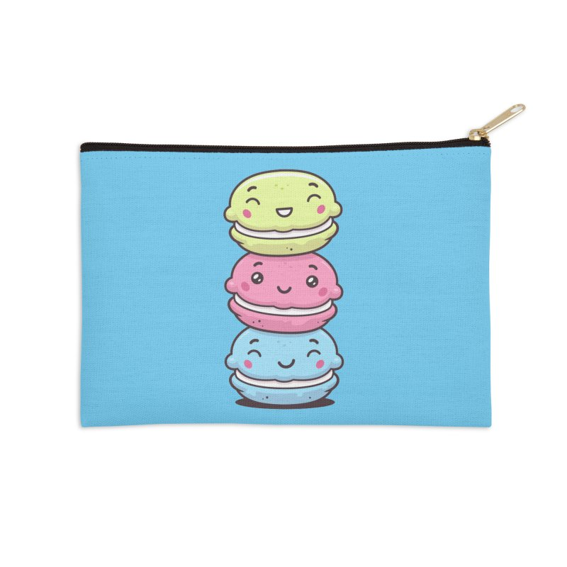 Funny Macarons Accessories Zip Pouch by zoljo's Artist Shop