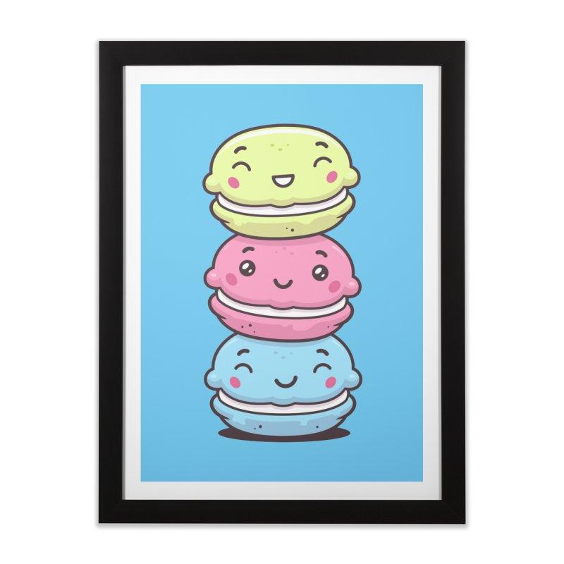 Funny Macarons Home Framed Fine Art Print by zoljo's Artist Shop