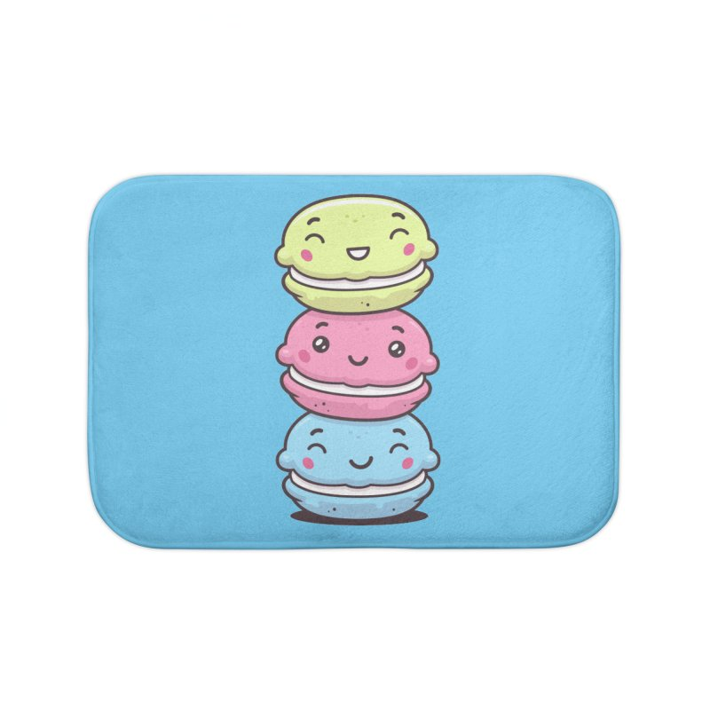 Funny Macarons Home Bath Mat by zoljo's Artist Shop