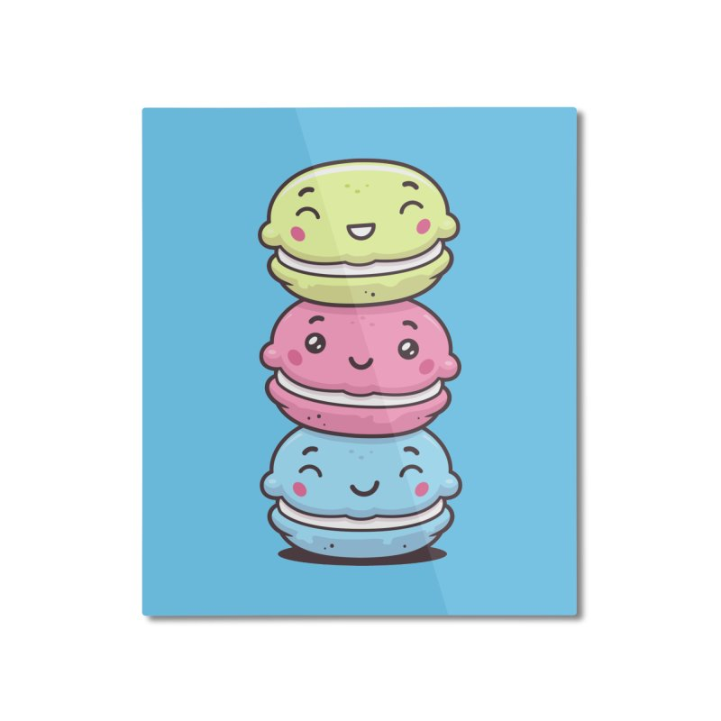 Funny Macarons Home Mounted Aluminum Print by zoljo's Artist Shop