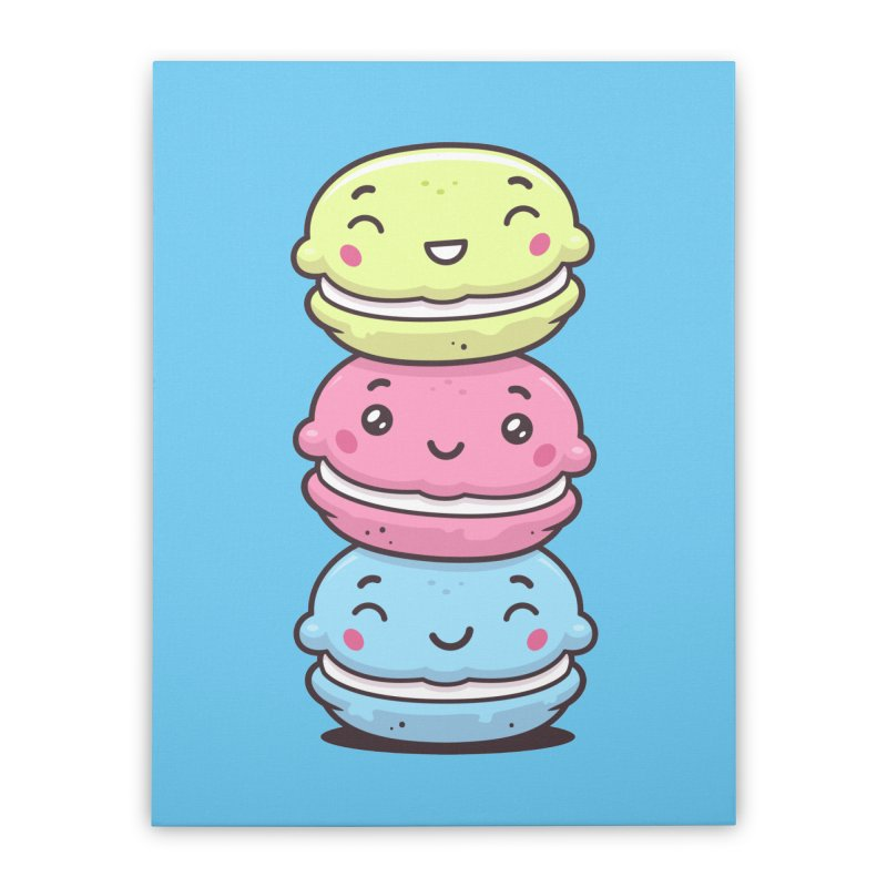 Funny Macarons Home Stretched Canvas by zoljo's Artist Shop