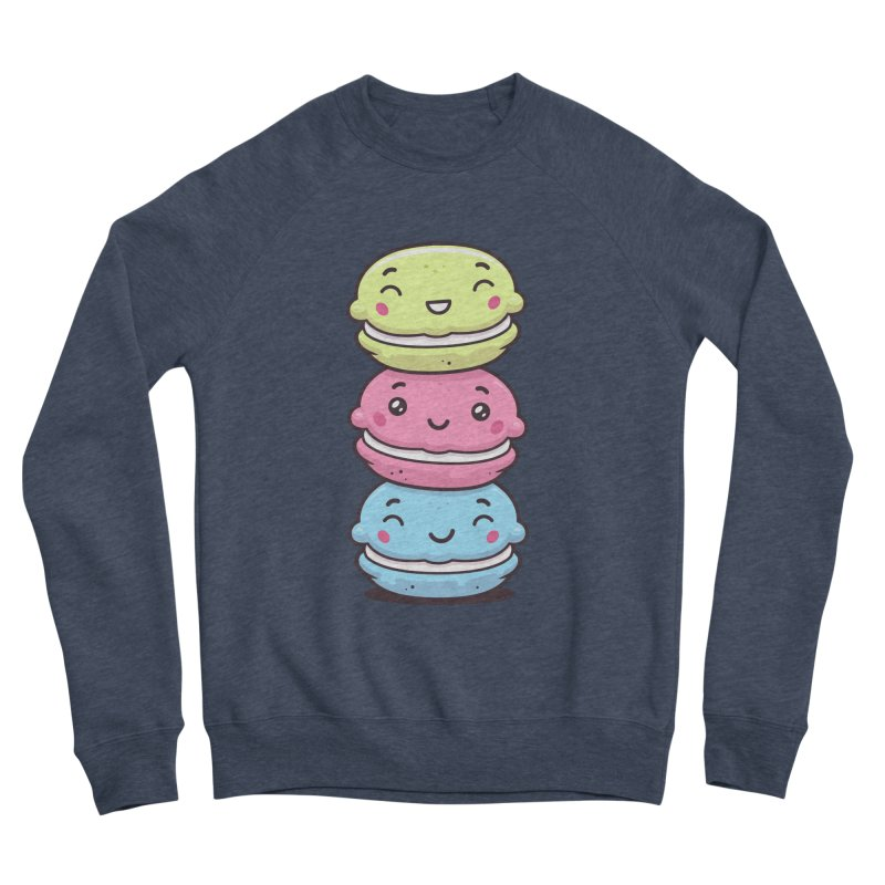 Funny Macarons Women's Sponge Fleece Sweatshirt by zoljo's Artist Shop