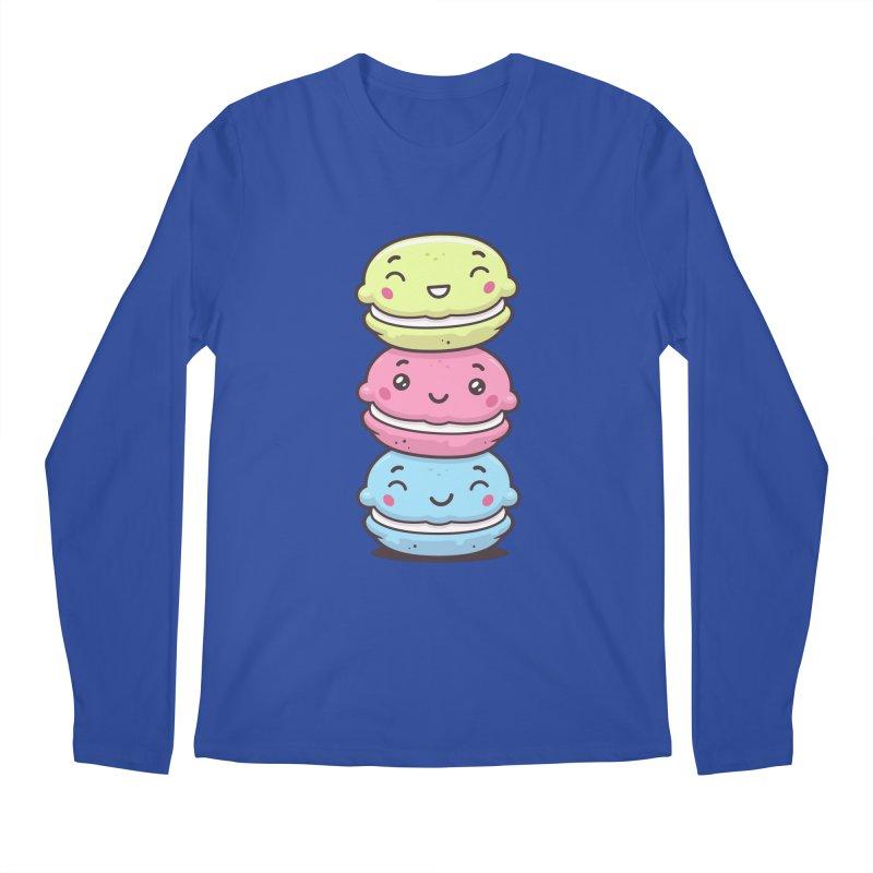 Funny Macarons Men's Regular Longsleeve T-Shirt by zoljo's Artist Shop