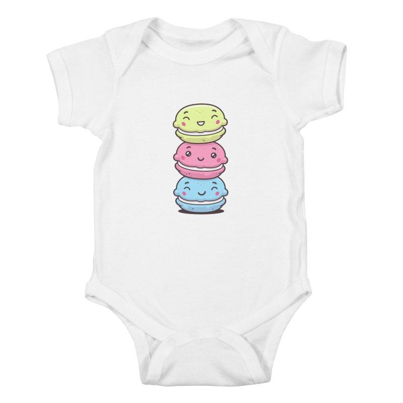 Funny Macarons Kids Baby Bodysuit by zoljo's Artist Shop