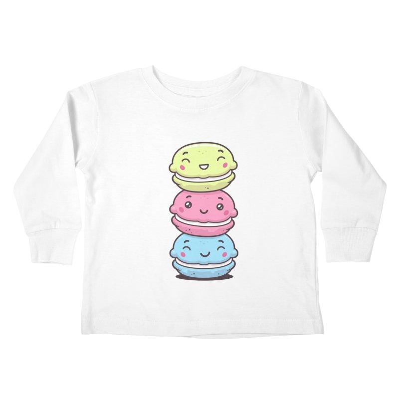 Funny Macarons Kids Toddler Longsleeve T-Shirt by zoljo's Artist Shop