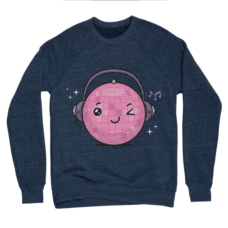Cool Disco Ball Women's Sponge Fleece Sweatshirt by zoljo's Artist Shop