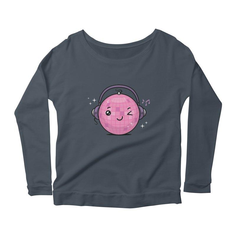Cool Disco Ball Women's Scoop Neck Longsleeve T-Shirt by zoljo's Artist Shop