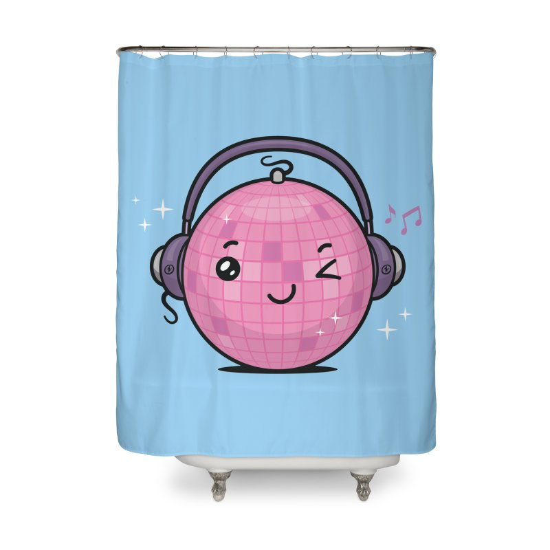Cool Disco Ball Home Shower Curtain by zoljo's Artist Shop