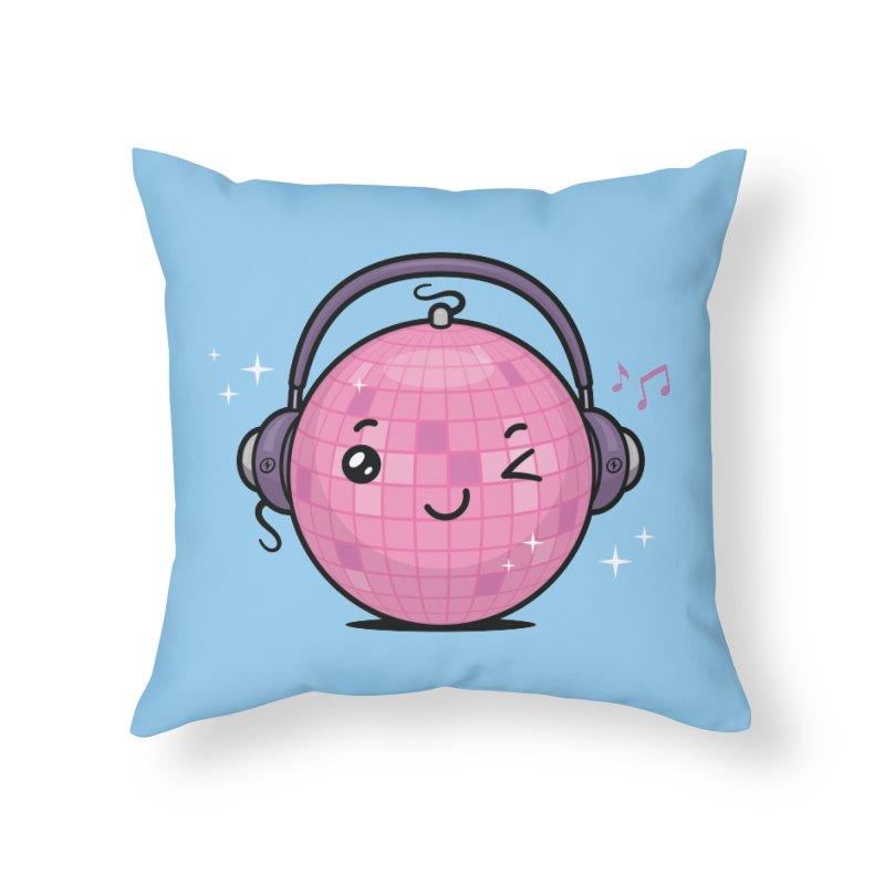 Cool Disco Ball Home Throw Pillow by zoljo's Artist Shop