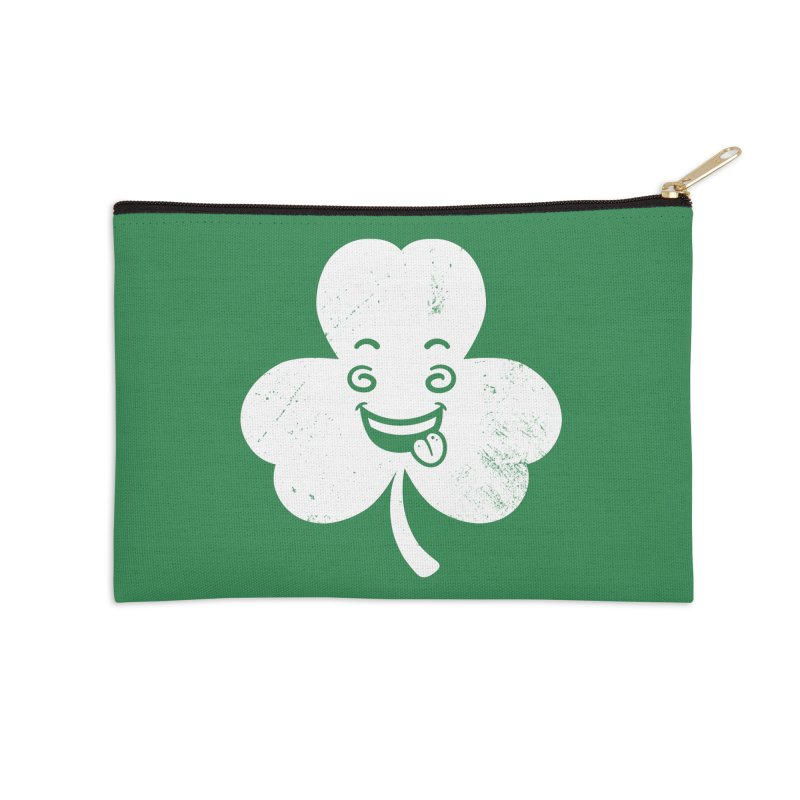 Wacky Shamrock Accessories Zip Pouch by zoljo's Artist Shop