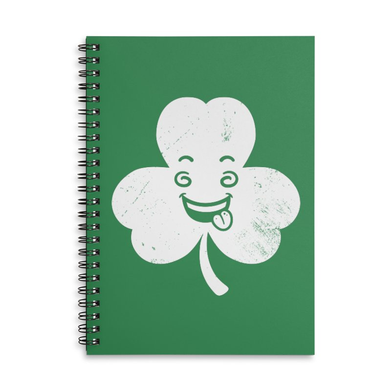 Wacky Shamrock Accessories Lined Spiral Notebook by zoljo's Artist Shop