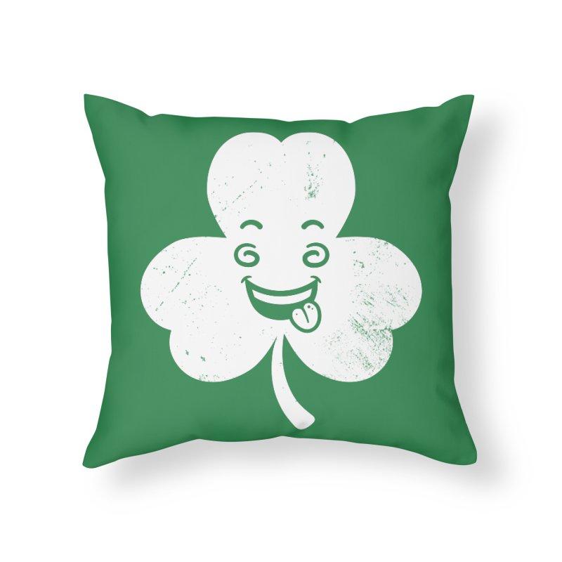 Wacky Shamrock Home Throw Pillow by zoljo's Artist Shop