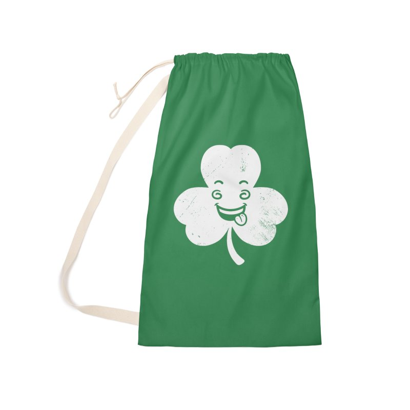 Wacky Shamrock Accessories Laundry Bag Bag by zoljo's Artist Shop