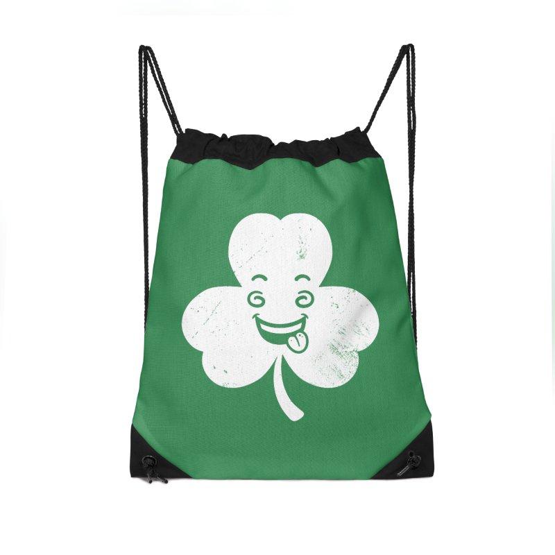 Wacky Shamrock Accessories Drawstring Bag Bag by zoljo's Artist Shop