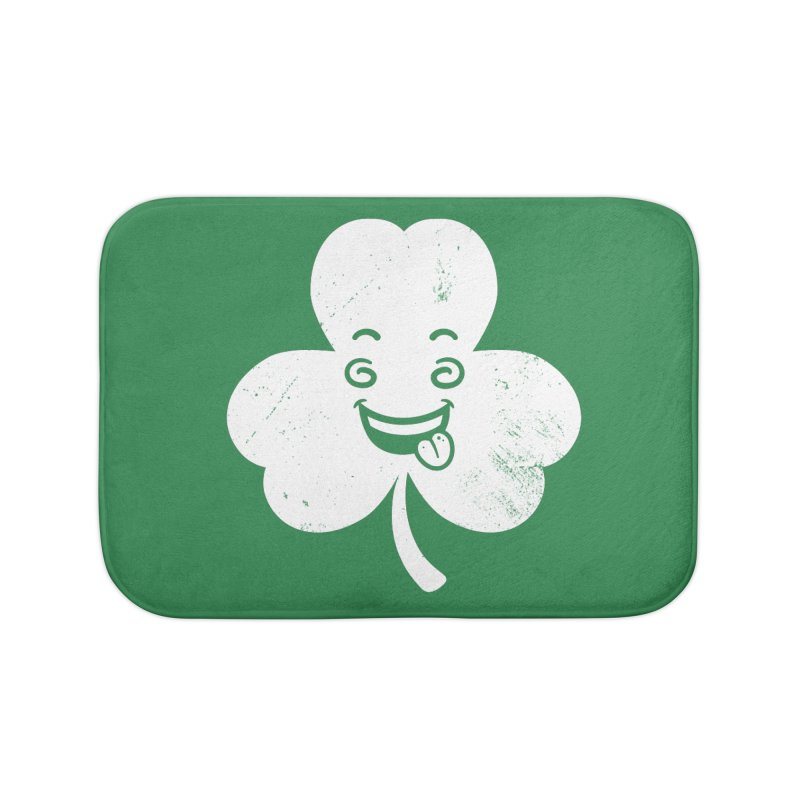 Wacky Shamrock Home Bath Mat by zoljo's Artist Shop