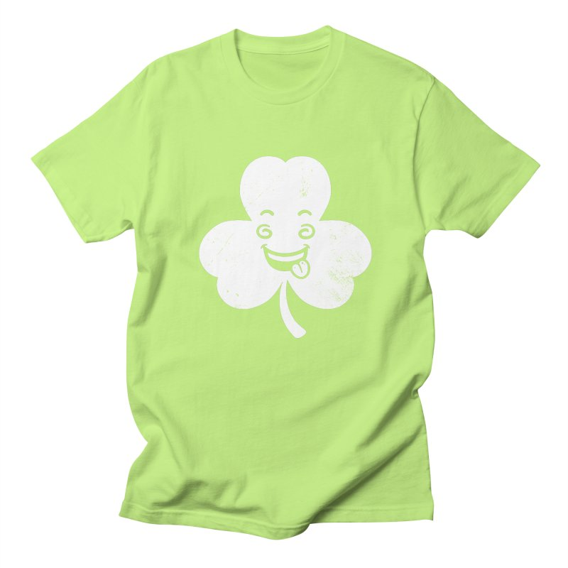 Wacky Shamrock Men's Regular T-Shirt by zoljo's Artist Shop