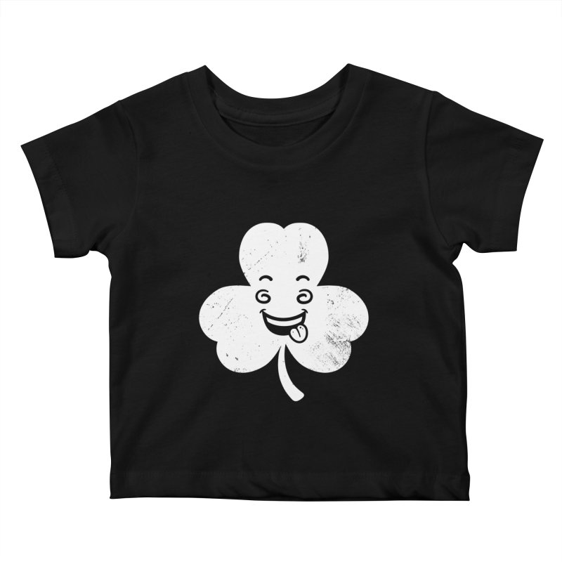 Wacky Shamrock Kids Baby T-Shirt by zoljo's Artist Shop