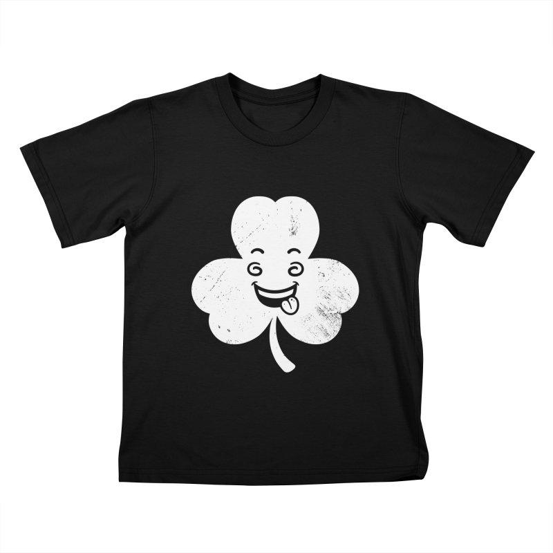 Wacky Shamrock Kids T-Shirt by zoljo's Artist Shop