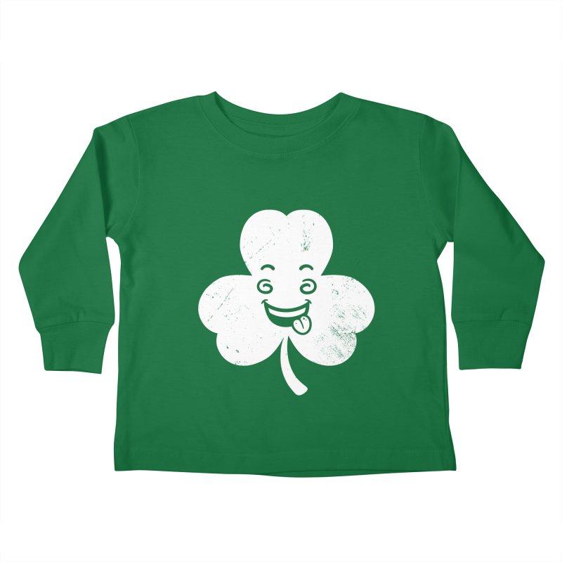 Wacky Shamrock Kids Toddler Longsleeve T-Shirt by zoljo's Artist Shop