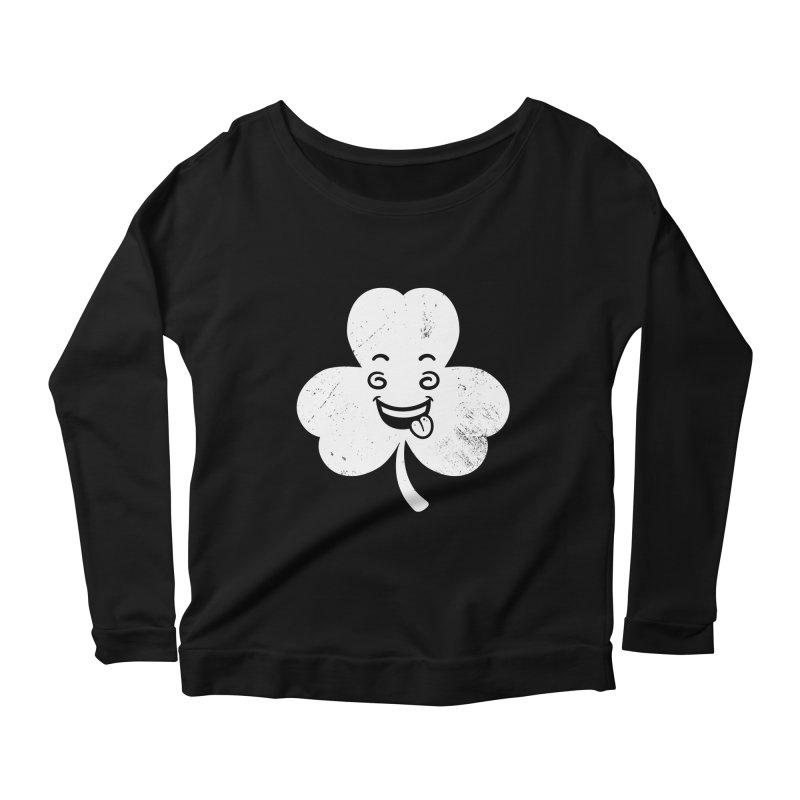 Wacky Shamrock Women's Scoop Neck Longsleeve T-Shirt by zoljo's Artist Shop