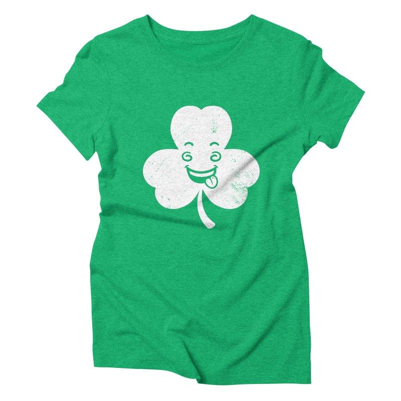 Wacky Shamrock Women's Triblend T-Shirt by zoljo's Artist Shop