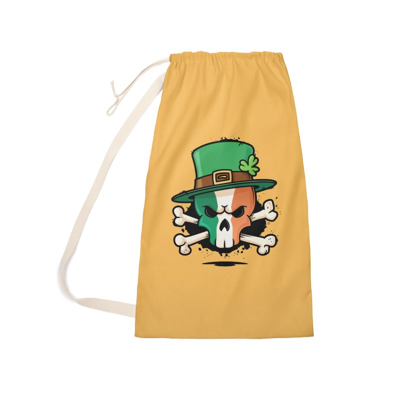Irish Leprechaun Skull Accessories Laundry Bag Bag by zoljo's Artist Shop