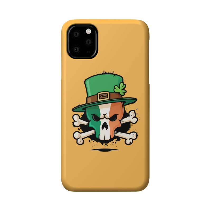Irish Leprechaun Skull Accessories Phone Case by zoljo's Artist Shop