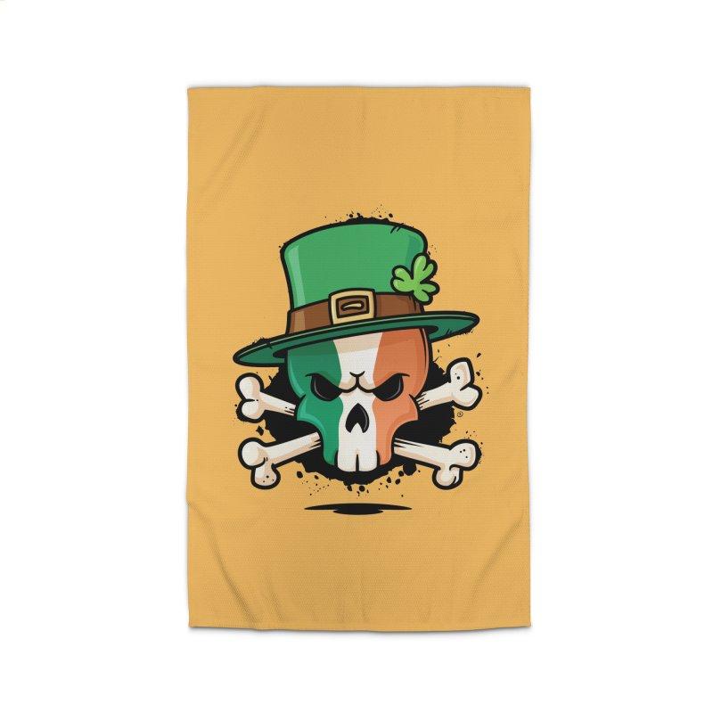 Irish Leprechaun Skull Home Rug by zoljo's Artist Shop