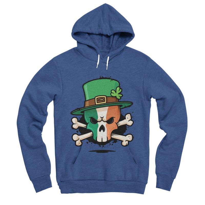 Irish Leprechaun Skull Women's Sponge Fleece Pullover Hoody by zoljo's Artist Shop