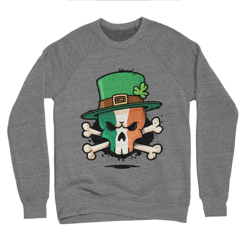 Irish Leprechaun Skull Women's Sponge Fleece Sweatshirt by zoljo's Artist Shop