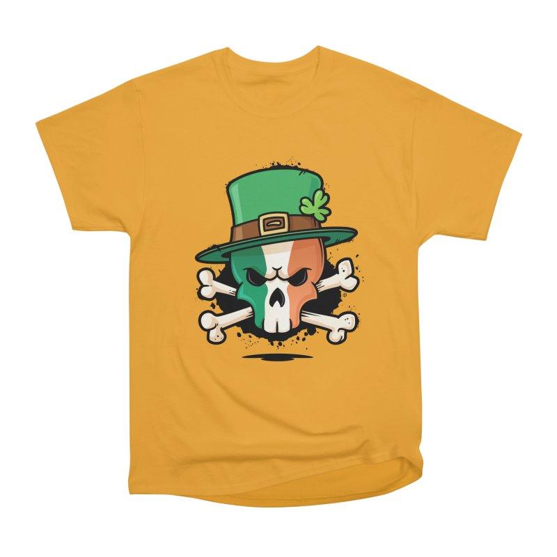 Irish Leprechaun Skull Men's Heavyweight T-Shirt by zoljo's Artist Shop