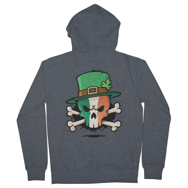 Irish Leprechaun Skull Women's French Terry Zip-Up Hoody by zoljo's Artist Shop