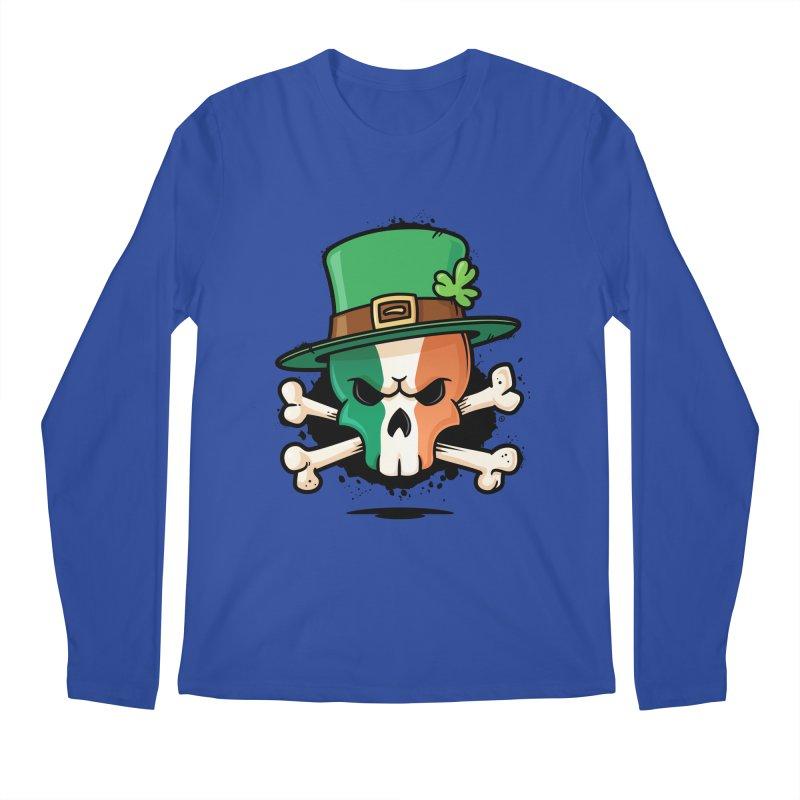 Irish Leprechaun Skull Men's Regular Longsleeve T-Shirt by zoljo's Artist Shop