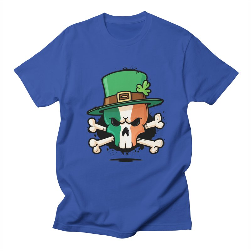 Irish Leprechaun Skull Men's Regular T-Shirt by zoljo's Artist Shop