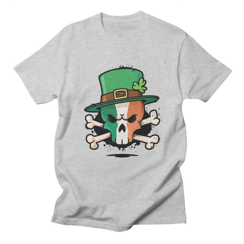 Irish Leprechaun Skull Women's Regular Unisex T-Shirt by zoljo's Artist Shop