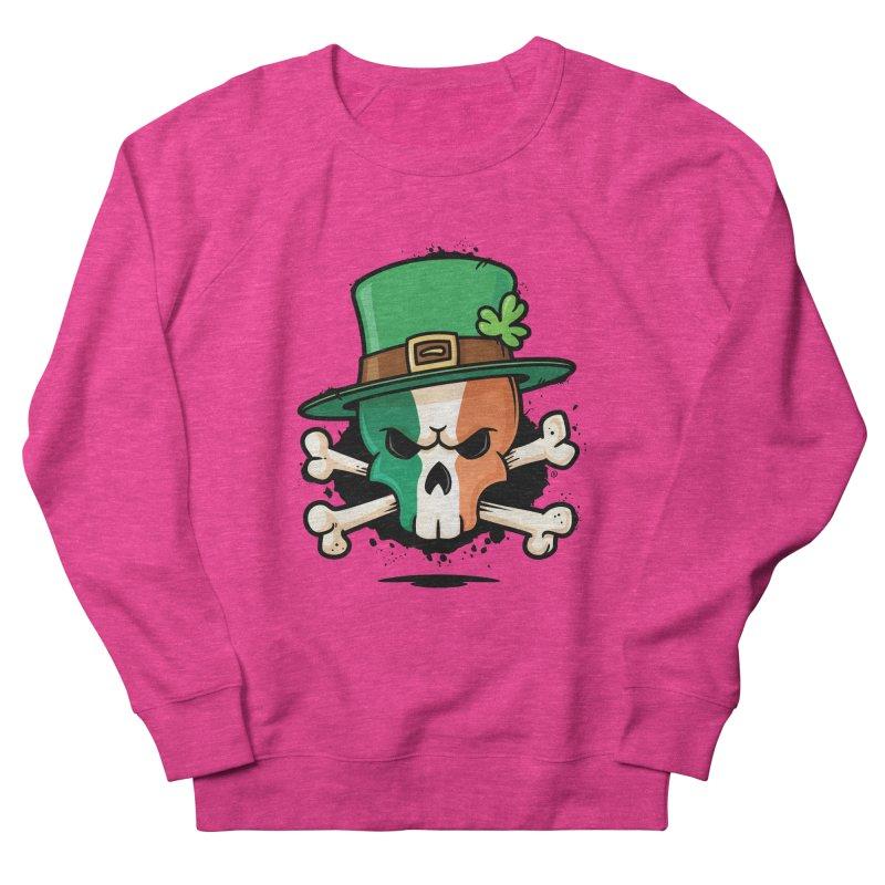 Irish Leprechaun Skull Men's French Terry Sweatshirt by zoljo's Artist Shop