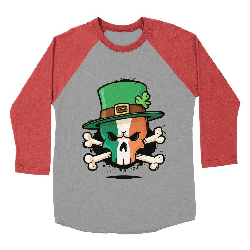 Irish Leprechaun Skull Women's Baseball Triblend Longsleeve T-Shirt by zoljo's Artist Shop