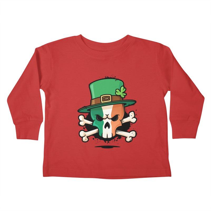 Irish Leprechaun Skull Kids Toddler Longsleeve T-Shirt by zoljo's Artist Shop
