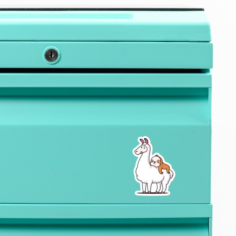 Best Friends LLama and Sloth Accessories Magnet by zoljo's Artist Shop