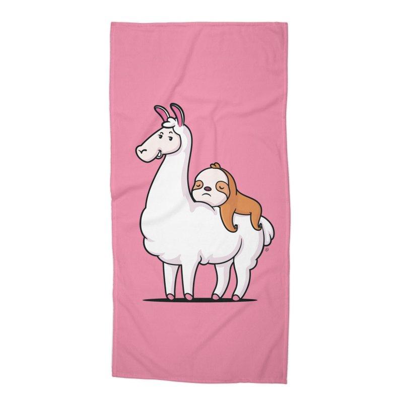 Best Friends LLama and Sloth Accessories Beach Towel by zoljo's Artist Shop