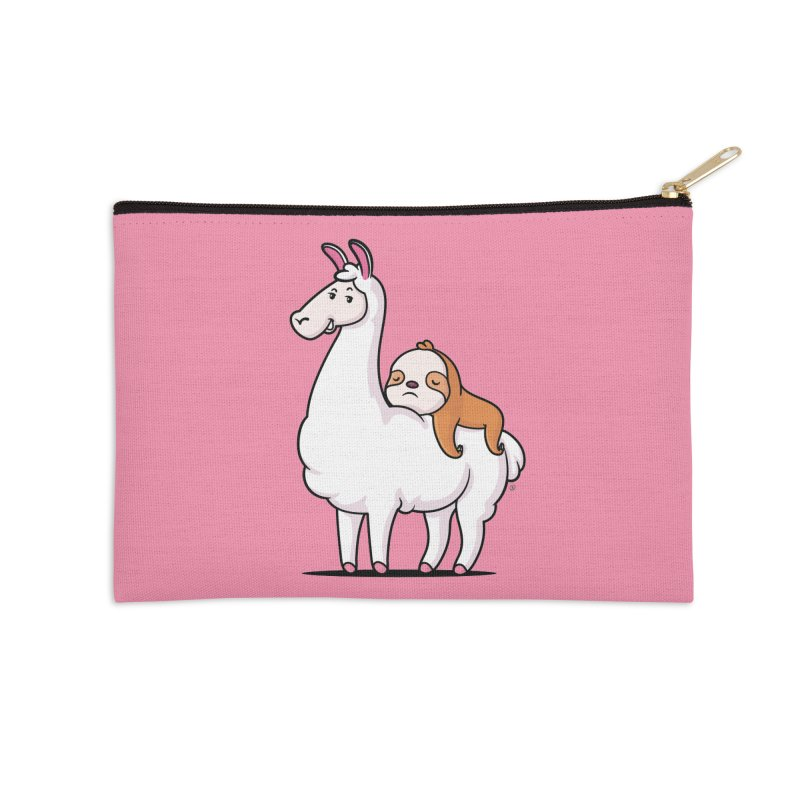 Best Friends LLama and Sloth Accessories Zip Pouch by zoljo's Artist Shop
