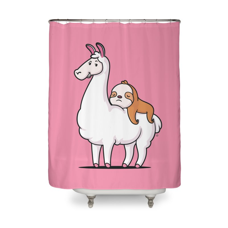 Best Friends LLama and Sloth Home Shower Curtain by zoljo's Artist Shop
