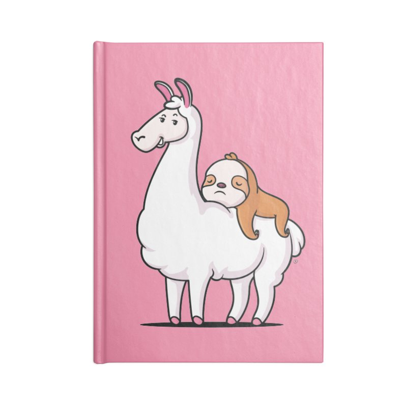 Best Friends LLama and Sloth Accessories Lined Journal Notebook by zoljo's Artist Shop