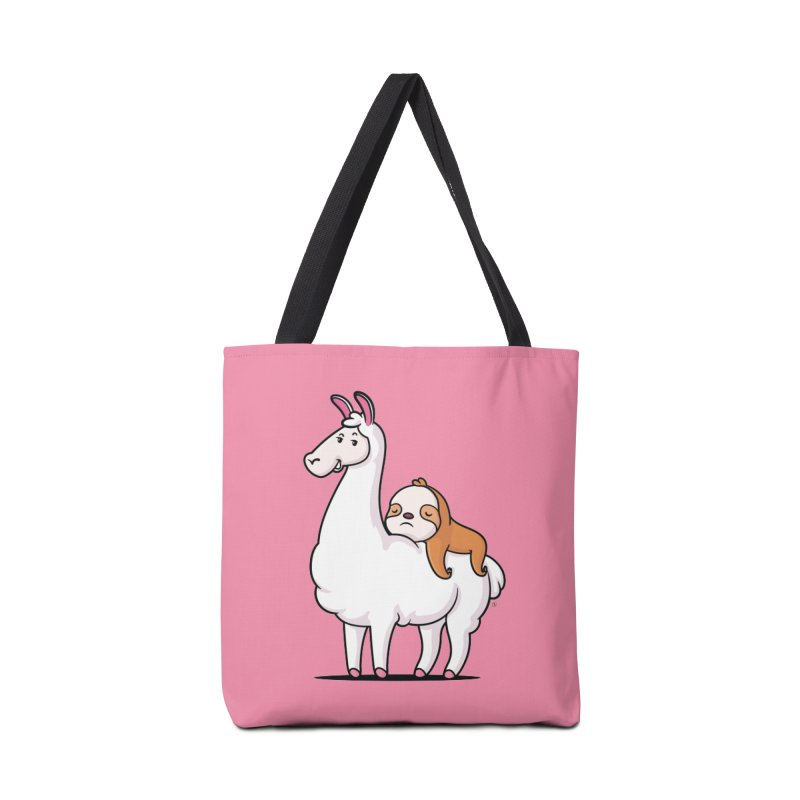 Best Friends LLama and Sloth Accessories Tote Bag Bag by zoljo's Artist Shop